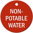 Non-Potable Water Stock Engraved Valve Tag