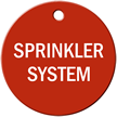 Sprinkler System Stock Engraved Valve Tag