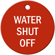 Water Shut Off Stock Engraved Valve Tag