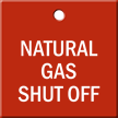 Natural Gas Shut Off Engraved Valve Tag