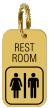 Brass Engraved Restroom Keychain