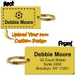 Two-Sided Custom Brass Key Ring