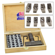 Type Kit Set with Holder and Steel Stamps