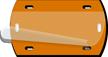 Orange Blank Fiber Optic Cable Tag