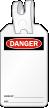 Blank Self Locking Danger Self Locking Tag