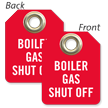 Boiler Gas Shut Off Mini Tag