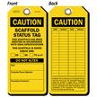 Caution Scaffold Status Tag