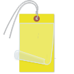 Blank Self-Laminating Write-On Tags With Wire, Yellow