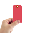 Red Cardstock Tag #5