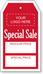 Custom Special Sale Garment Price Tag