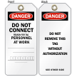 Do Not Connect Danger Tag