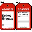 Do Not Energize Danger Tag