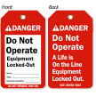 Do Not Operate Equipment Tag