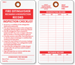 Fire Extinguisher Recharge Cardstock Tag