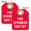 Fire Sprinkler Shut Off Mini Tag