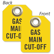 Gas Main Cut-Off Mini Tag