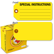 Special Instructions Tag-in-a-Box with Fiber Patch