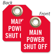 Main Power Shut Off Mini Tag