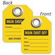 Main Shut Off Mini Tag