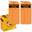 Maintenance Record Tag-in-a-Box with Fiber Patch