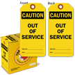 Caution Out of Service Lock Out Tag-in-a-Box