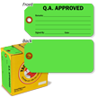 Q.A. Approved Inspection Tag-in-a-Box with Fiber Patch