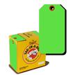Fluorescent Green Tag In A Box