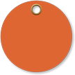 3 in. circle Fluorescent Orange Vinyl Tags