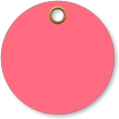 3 in. circle Fluorescent Pink Vinyl Tags