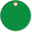 3 in. circle Green Vinyl Tags