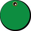 3 in. circle Green Vinyl Tags