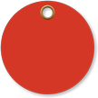 3 in. circle Red Vinyl Tags