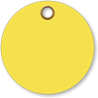 3 in. circle Yellow Vinyl Tags
