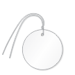 Pre-Wired Plastic Circle Tags; White