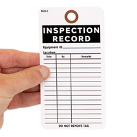 Cardstock Inspection Tag