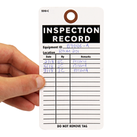 Inspection Record Do Not Remove Tag