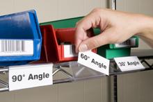 Adjustable Labels Holders for Wire Shelves