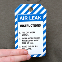 Air Leak Instructions Inspection and Status Record Tags
