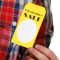 Clearance Sale Tags With Slit