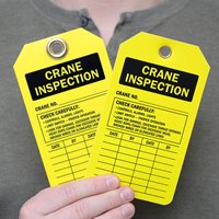 Crane Inspection and Status Record Two-Sided Tags