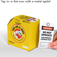 Do Not Operate Equipment Safety Tag On A Roll