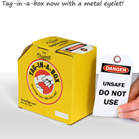2-Sided OSHA Danger Safety Tag