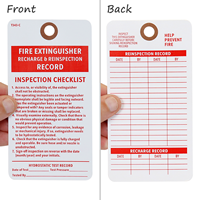 Fire Extinguisher Recharge Tag