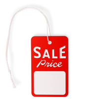"Sale Price Tags (2.875"" x 1.75"") with String"