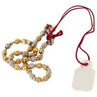 Jewelry Tags, Burgundy silk like string
