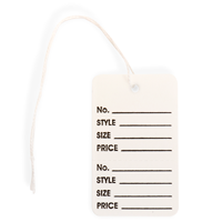 Garment Tag Large, with String