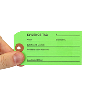 Green Evidence Identification Tag