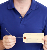 Evidence Tag With Wire