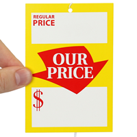 Large Regular Price and Our Price Tags