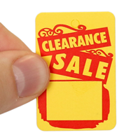 Clearance Sale Tags With Strings